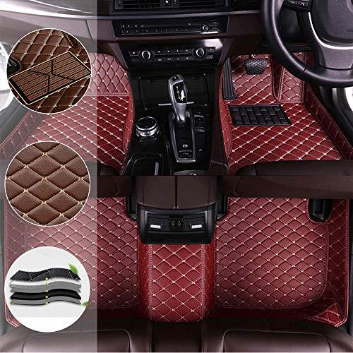 SADGE Alfombrillas De Coche Personalizadas Alfombras De Pie para Porsche Cayman Macan Cayenne Panamera Boxster 718 Alfombrilla Delantera Impermeable Alfombras De Coche