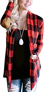 Womens Elbow Patch Long Sleeve Cardigan