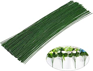 200 PCS Floral Stem Wire Flower Arrangements and DIY Crafts,Dark Green,Floral Wire for Florist Flower Arrangement 16 Inches