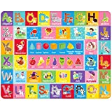 IMIKEYA Kids Play Rugs Playroom Rug Mat with Colorful Pattern, Playtime Collection ABC Alphabet, Seasons, Months, Fruit and Shapes Playmat Educational Rug for Kids Playroom Bedroom, 55 x 43.3 Inch