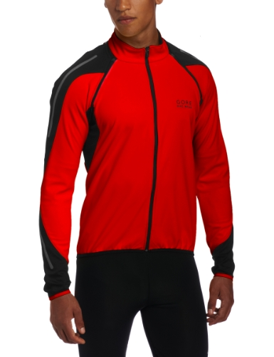 GORE BIKE WEAR Men´s Phantom 2.0 Windstopper Soft Shell Jacket, JWPHAS, White/Blaze Orange, L