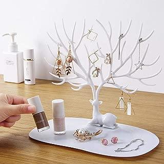 Mignon CH Pr/ésentoir Arbre /à Bijoux en Plastique Rangement de Bijoux Support de doreille Boucles Bagues Bracelets Forme de Cerf Porte-Bijoux Organisateur
