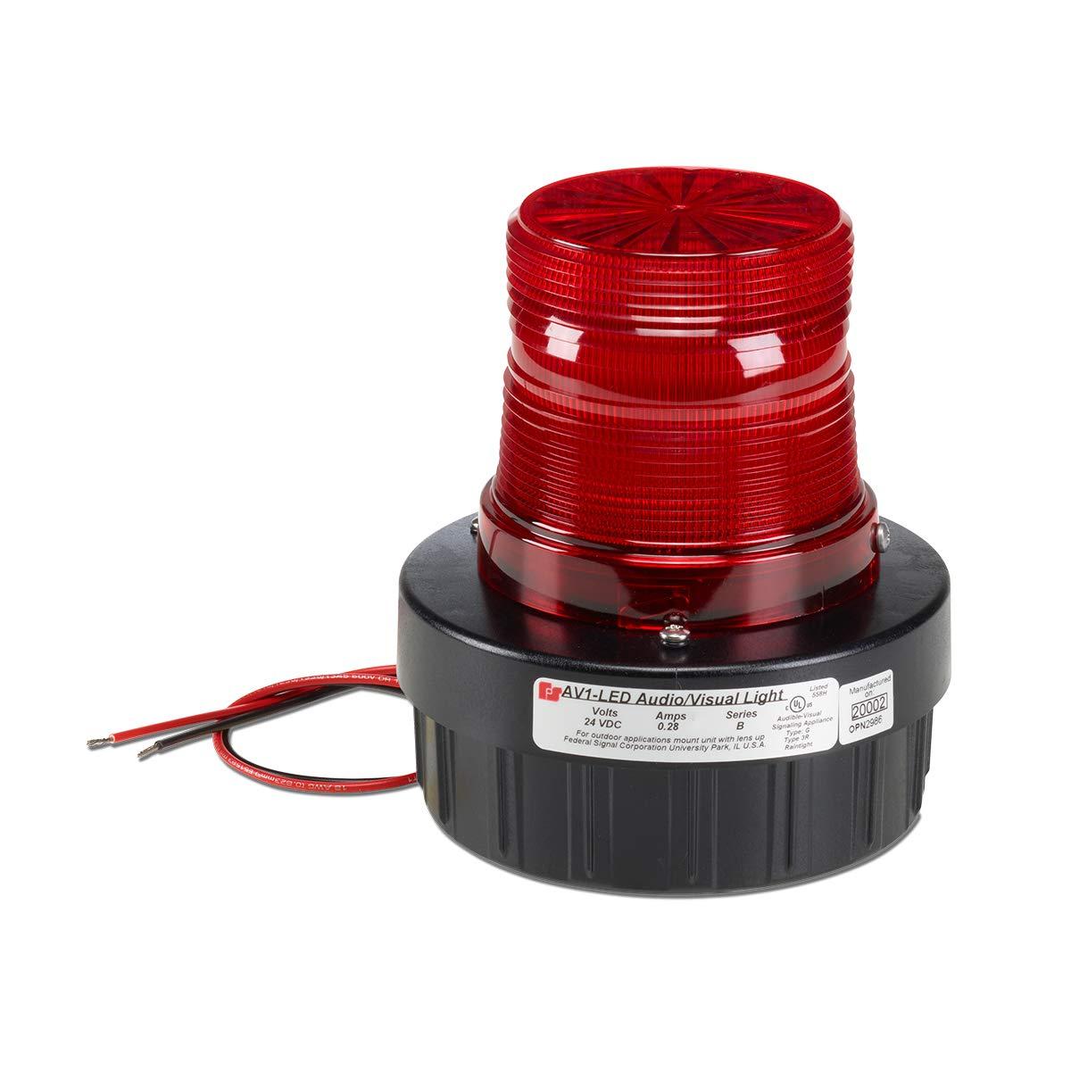 Federal Signal AV1 Audio//Visual Amber Warning Hazard Light 120VAC