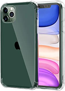 LAIWOO for iPhone 11 Pro Case, Designed Air Cushion Frame Protection and Acoustic Channel Directs, Slim Soft TPU Protective Cover Compatible with iPhone 11 Pro 5.8 inch (2019), Clear