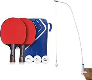 Pinpinpon Table Tennis Trainer, Home and Office Leisure Decompression Sport, Two Table Tennis Rackets with 3 Balls,1 Ping Pong Paddle Case and 1 String Ball Stand/Phone Stand