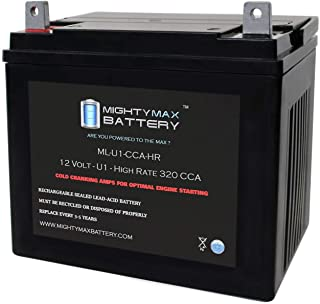 Mighty Max Battery ML-U1-CCAHR 12V 320CCA Battery for Dixie Chopper SP 3200 0Turn Mower Brand Product