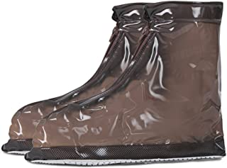 FUNLAVIE Rain Shoe Covers Non-slip Reusable Waterproof Shoe Covers for Women Men