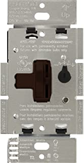 Lutron Toggler 250-Watt C.L Dimmer Switch for Dimmable LED, Halogen and Incandescent Bulbs, Single-Pole or 3-Way, AYCL-253P-BR, Brown