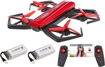 GoolRC T33 WiFi FPV 720P HD Camera Quadcopter Foldable G-Sensor Mini RC Selfie Pocket Drone Height Hold One 2 Batteries