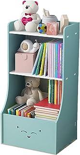 GWXJZ Estanterías para CD DVD Organizador de estantería para niños: Soporte para revistas con imágenes, estantería Simple,...