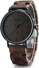 BEWELL Wooden Watches for Men/Women Slim Analog Quartz Minimalist Couple Wrist Watch W163A