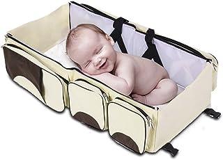 comprar comparacion Bolsa de pañales de viaje estación de cambio de cuna 3 en 1 pañales de bebé multiuso cama de mano pañal para niños cunas...