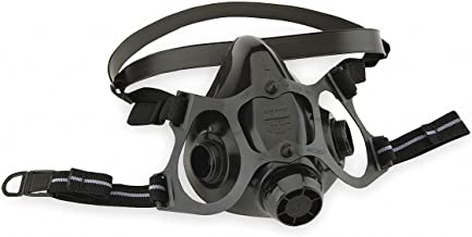 Honeywell 770030L North 7700 Series Half Mask Facepiece, Large, Black Silicone