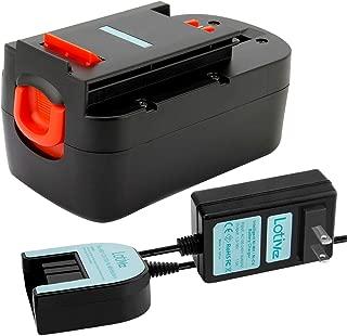 Lotive 3.0Ah Ni-MH 18V HPB18 Battery and 1.2V-18V Charger Compatible with Black & Decker A1718 A18NH HPB18-OPE A18 Firestorm A18 FS18BX FS180BX FS18FL FSB18 Model Power Tools