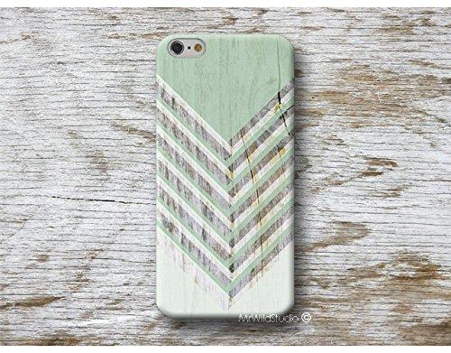 Grün Chevron Holz Print Hülle Handyhülle für HTC U11 10 M9 M8 A9 desire 626 Sony Xperia XZ3 XZ2 XZ1 Z5 Z3 compact M5 M4