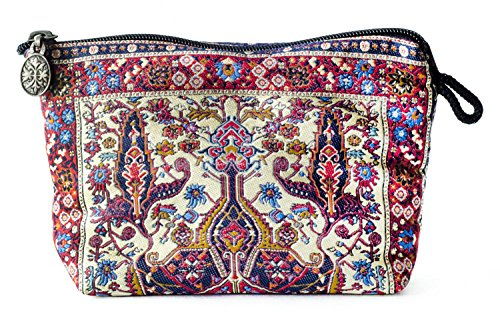 Orientalischer Teppich Kosmetiktasche, Clutch, Make-up-Tasche, Quchan-Design-Kollektion