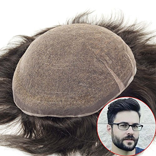 Lordhair postiches pour homme Medium Densité S7 m Noir Cheveux Cheveux de remplacement des systèmes # 1b