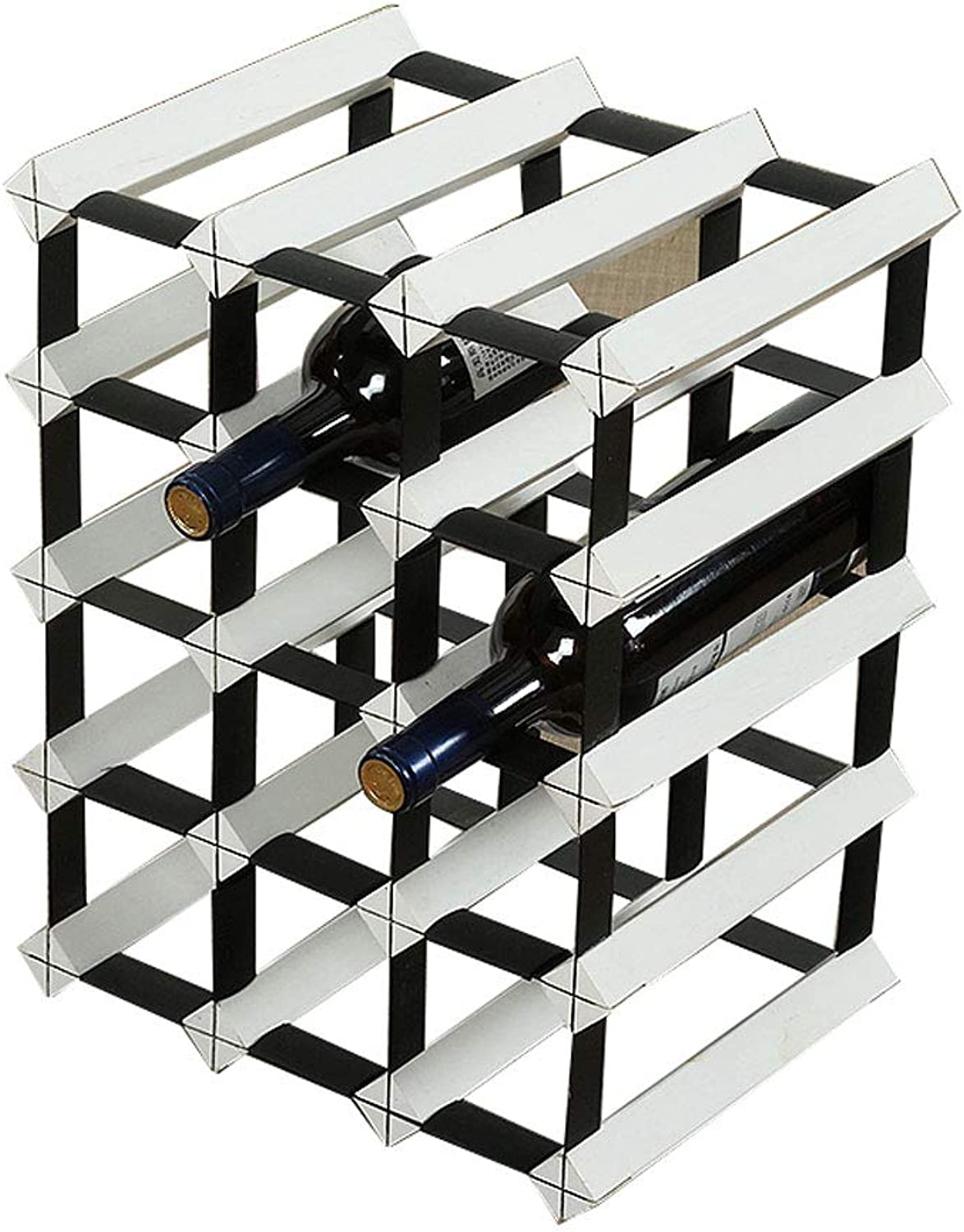 Teng Peng- Wine Rack-Solid Wood Wine Rack, Creative Wine Rack Decoration, Large Capacity, Various Shapes, Various Sizes Home Wine Rack (Size   B)