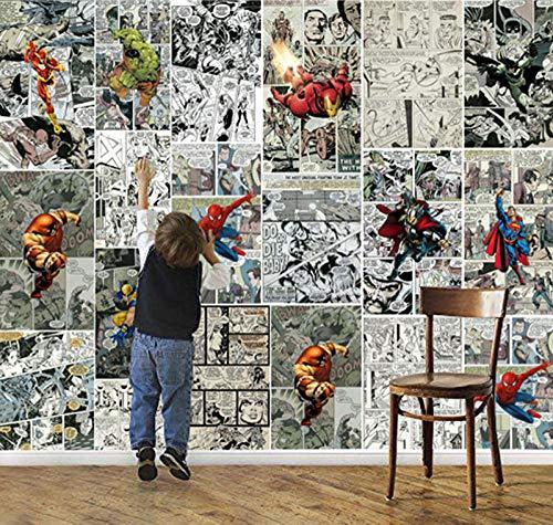 Marvel Comics Fototapete Wanddekoration Tapete Kinderzimmer Room Decor Tv Hintergrundwandverkleidung Super Hero Fototapete 200 * 140Cm