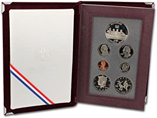 1996 S US Mint 7-piece Prestige Proof Set with Olympic Silver $1 and Commemorative 1/2 Proof with DCAM - OGP with COA
