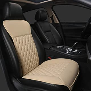 Black Panther Car Seat Covers, Luxury Car Protector,Universal Anti-Slip Driver Seat Cover with Backrest(1PC,Beige)