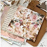 10pcs Pad Carta per Decoupage DIY Fiore Carte Decorative Metallic Gold Scrapbooking Carte Creative Papers 6inch