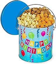 Happy Birthday Popcorn Tin (Traditional Mix, 1 Gallon)