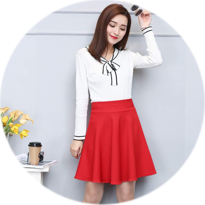 Rather be Spring Summer Short Skirt Women Ball Gown All Fit Tutu School Skirt Women ALine Skirts 2019,red,XL