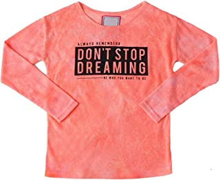 SNOW DREAMS Snowdreams Big Girls Letter Print T-Shirt Casual Loose Tops Tees