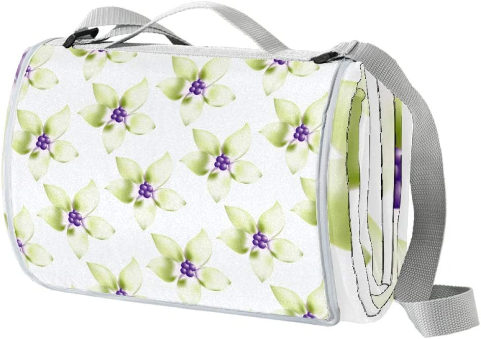 XJJUSC Green Flowers Extra Large Th Beach Plus Albuquerque Sale SALE% OFF Mall Blanket Picnic