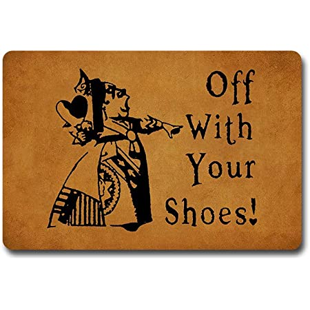 Decoration Vintage Alice in Wonderland Sign OFF WITH YOUR SHOES
