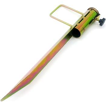 picchetto a terra Land-Haus-Shop/® Supporto per ombrellone avvitamento nel terreno reggi stendibiancheria in lamiera d/'acciaio zincato