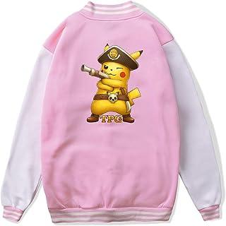 VJJ AIDEAR Tampa Pokemon Go Baseball Uniform Jacket Sport Coat Girl Long Sleeve Hoodie Sportswear Black