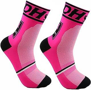 comprar comparacion JIANYE Calcetines de Ciclismo para Compresión Hombres Mujer Deporte Ciclismo Calcetines 2 Pares Europa 42-45