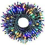 holahome Led Christmas String Lights Outdoor Indoor - 115Ft 300 LED UL Certified 8 Modes End to End Plug - Multi Color Fairy Lights for Xmas Tree, Wedding, Patio, Garden, Holiday Decoration