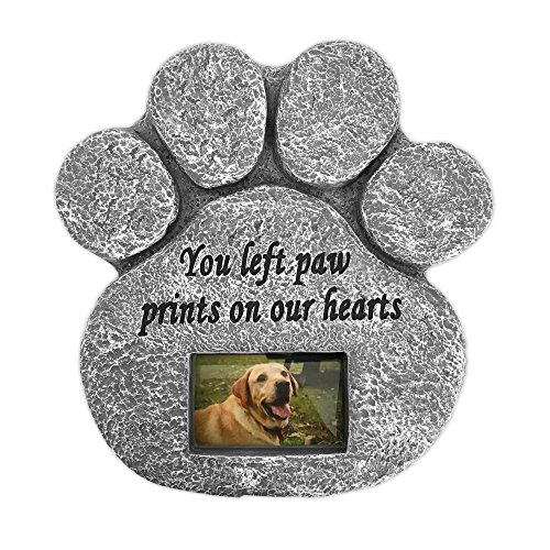 You Left Paw Prints On Our Hearts' Paw Print Pet Memorial Stone