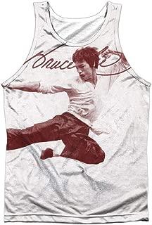 Bruce Lee Men's Expectations Mens Tank White