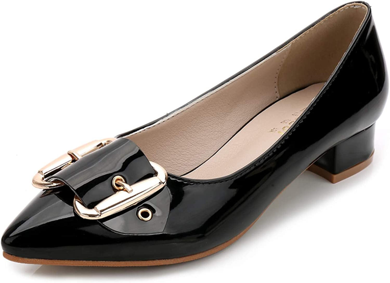 shoes Women Autumn Metal Decoration Flat Slip on Buckle Platform shoes Selling Sandals Black Apricot White