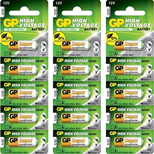 GP 23AE Ultra 23 A 12 V High Voltage Alkaline-Batterie (15-Stück)