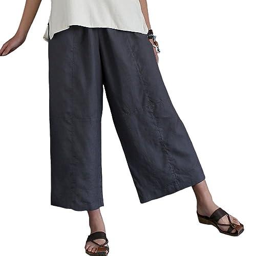 promo code release date great discount sale Women's Linen Capris: Amazon.com