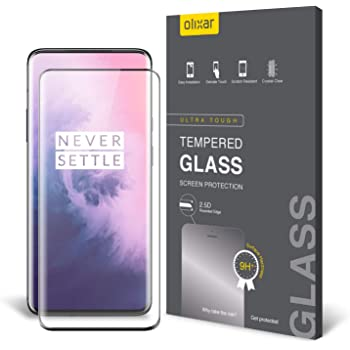 Olixar Screen Protector for OnePlus 7 Pro, Tempered Glass - Shock Proof, Anti-Scratch, Anti-Shatter, Bubble Free, Clear HD Clarity Full Coverage Case Friendly - Easy Application