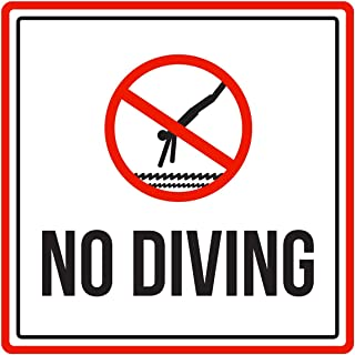 international no diving sign
