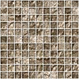 Susan Jablon Mosaics - 1 Inch Espresso Brown Satin Metallic Glass Tile