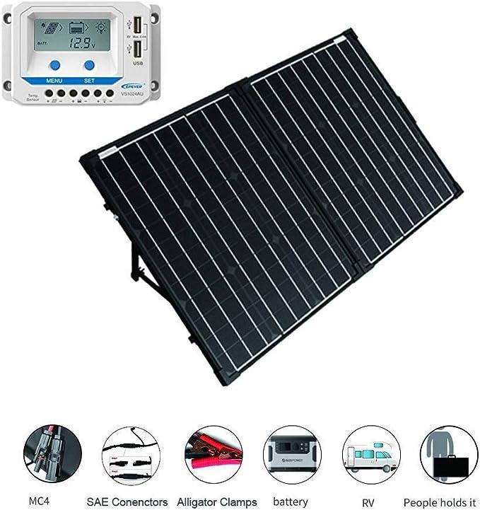 ACOPOWER 100 Watt 12V Portable Solar Panel Kit