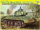 1/35 WW.II soviética T-34/76 1943 modelo año Forumochika Revolver W/longitud del...