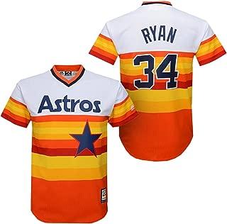 Majestic Men's Houston Astros Nolan Ryan Cooperstown Pullover Jersey