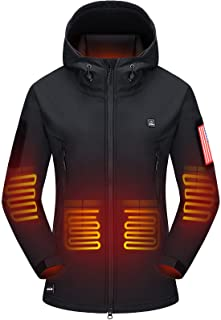 Heated Jacket with Battery Pack Winter Outdoor Soft Shell...