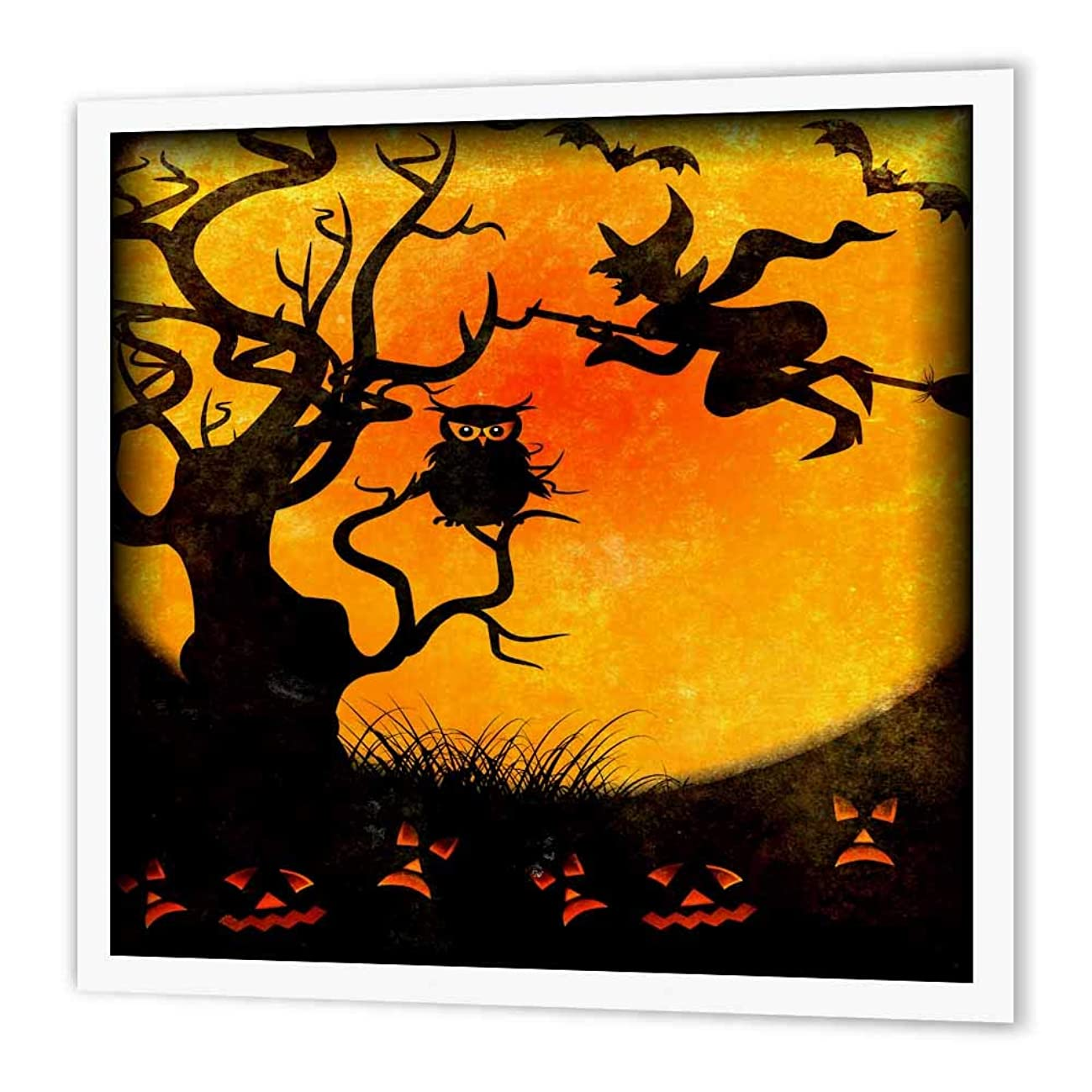 3dRose ht_24144_1 Halloween Backdrop-Iron on Heat Transfer Paper for White Material, 8 by 8-Inch