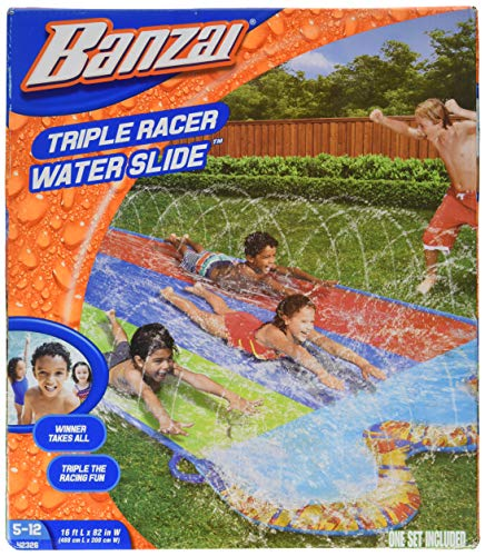 Banzai Triple Racer Water Slide- 16 feet Long
