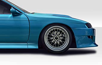 Extreme Dimensions Duraflex Replacement for 1997-1998 Nissan 240SX S14 B Sport Wide Body Front Fender Flares - 2 Piece